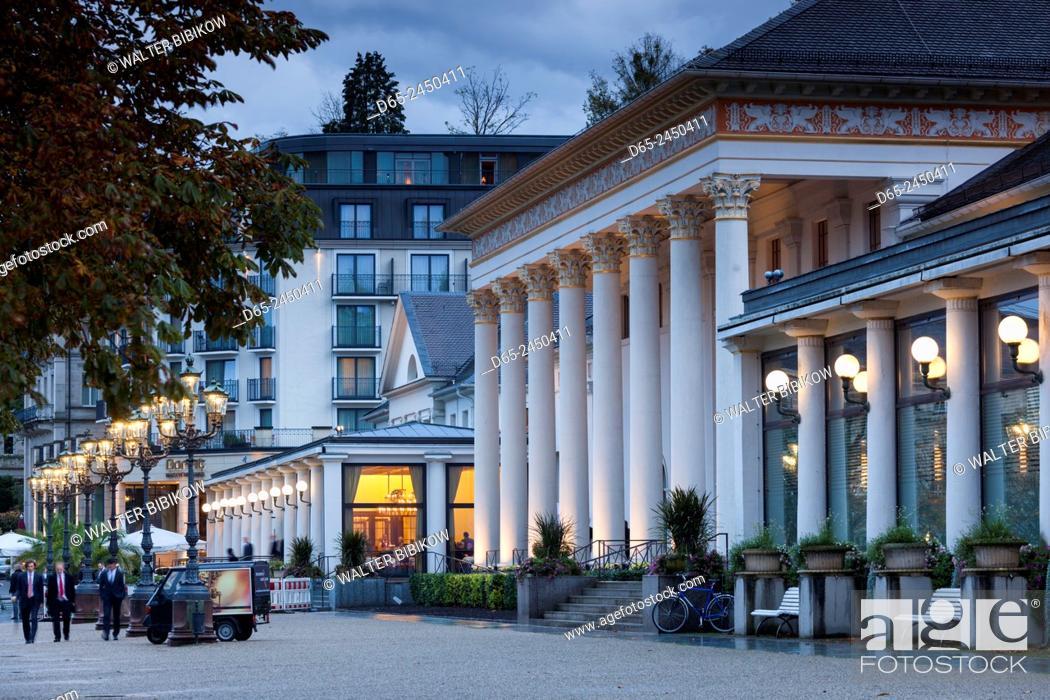 Stock Photo: Germany, Baden-Wurttemburg, Baden-Baden, Kurhaus and Casino, exterior.