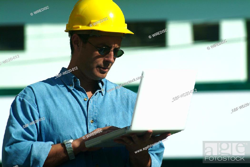 Stock Photo: Men, engineer, Architecture, building, Brazil.