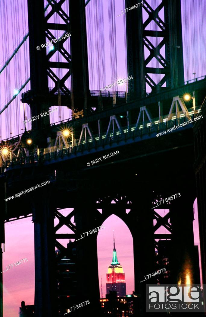 Stock Photo: Manhattan Bridge. New York City, USA.