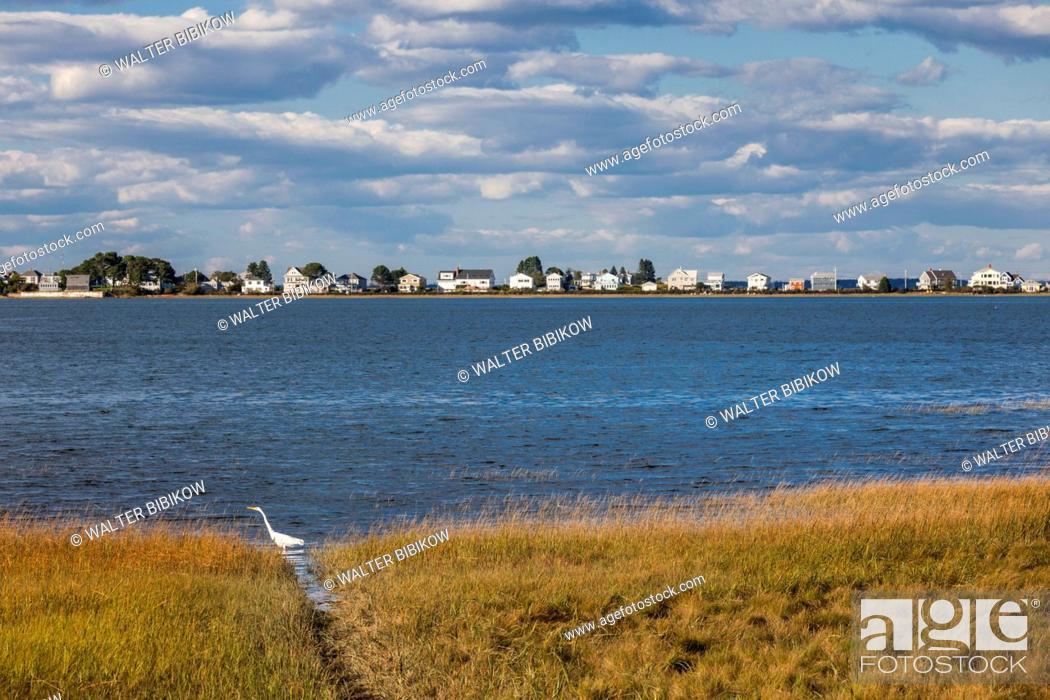 Stock Photo: USA, Maine, Cape Porpoise, village harbor.