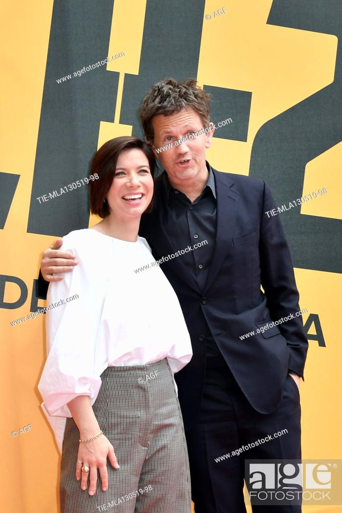 Stock Photo: Tessa Ferrer, Richard Brown during 'Catch-22' TV show photocall, Rome, Italy - 13 May 2019.