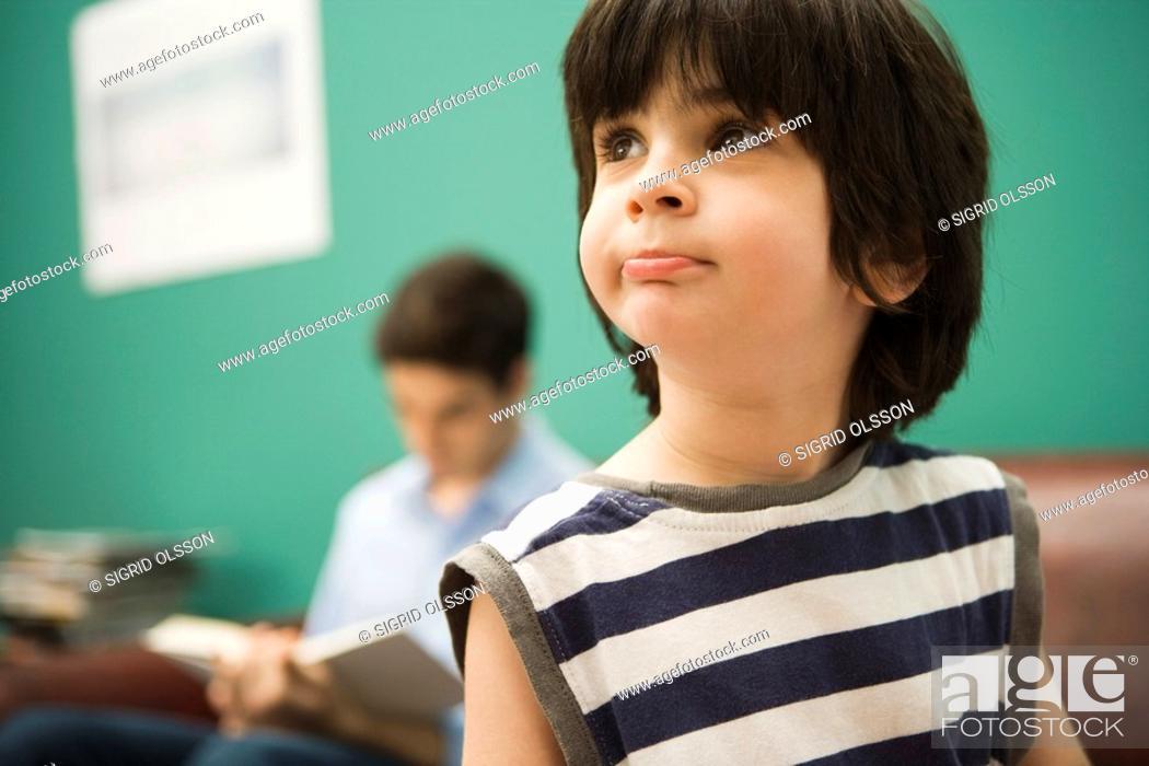Stock Photo: Little boy, portrait.