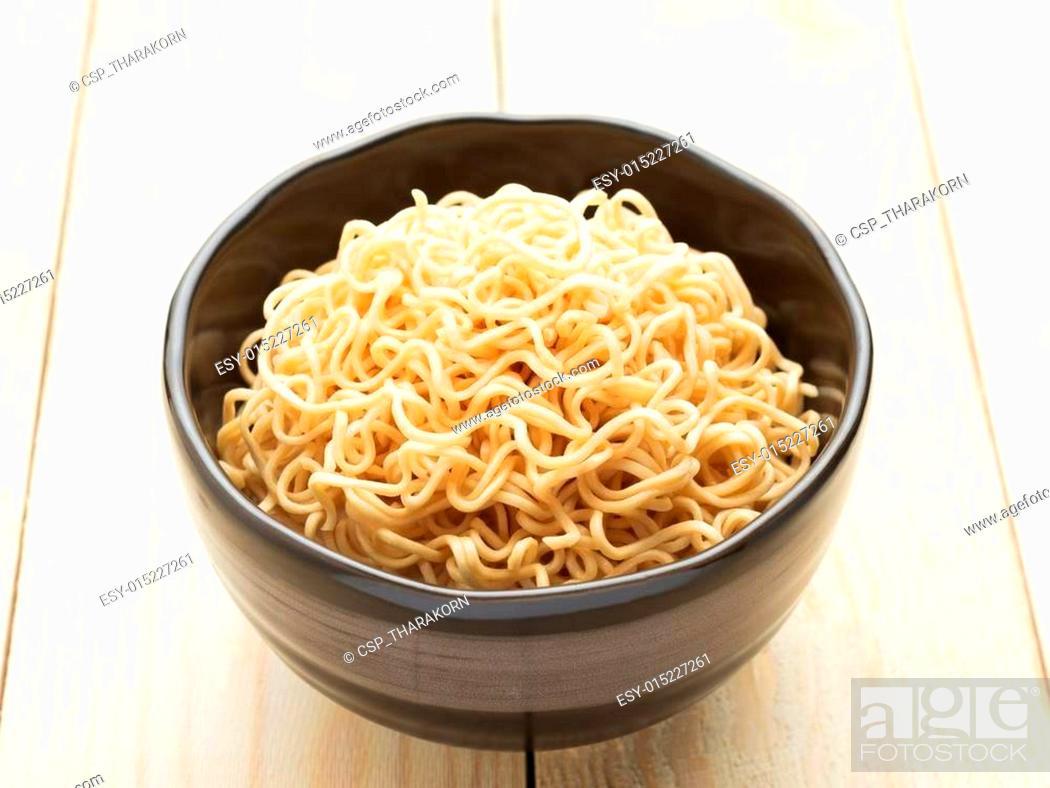 Stock Photo: Instant Noodles.