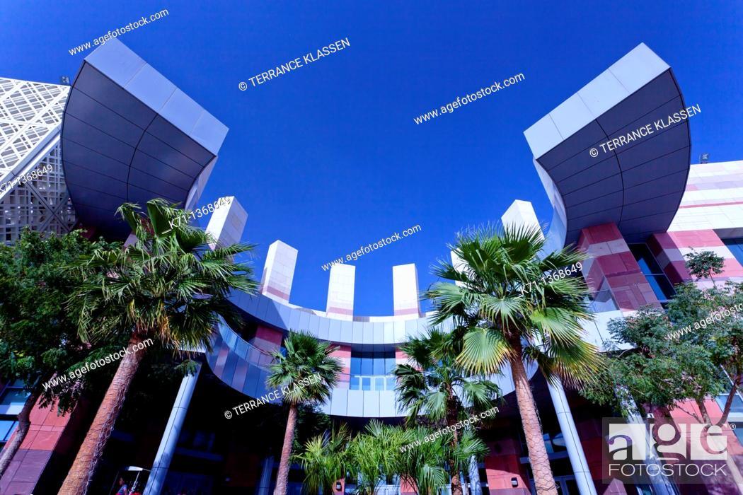 Stock Photo: Architecture at the Festival City Mall in Dubai, UAE, Persian Gulf.