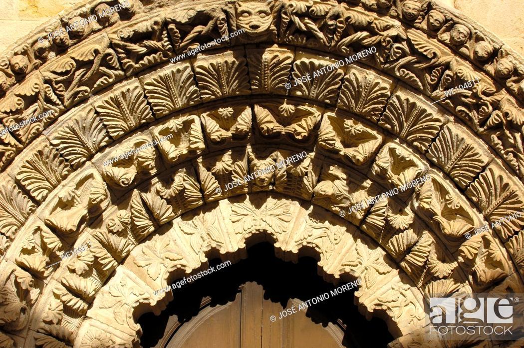 Stock Photo: Romanesque church of La Magdalena (12th century), Zamora, Castilla-Leon, Spain.