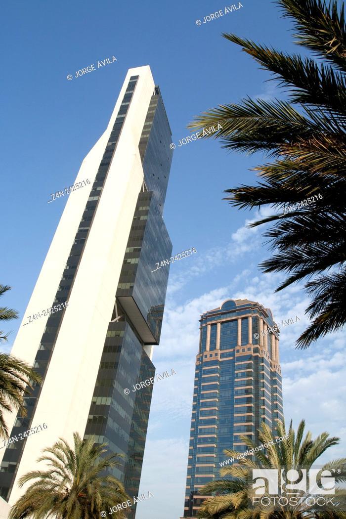 Stock Photo: Modern buildings, Monterrey, Mexico.