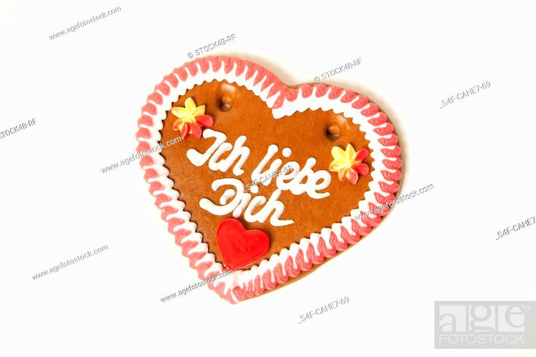 Stock Photo: Gingerbread heart.