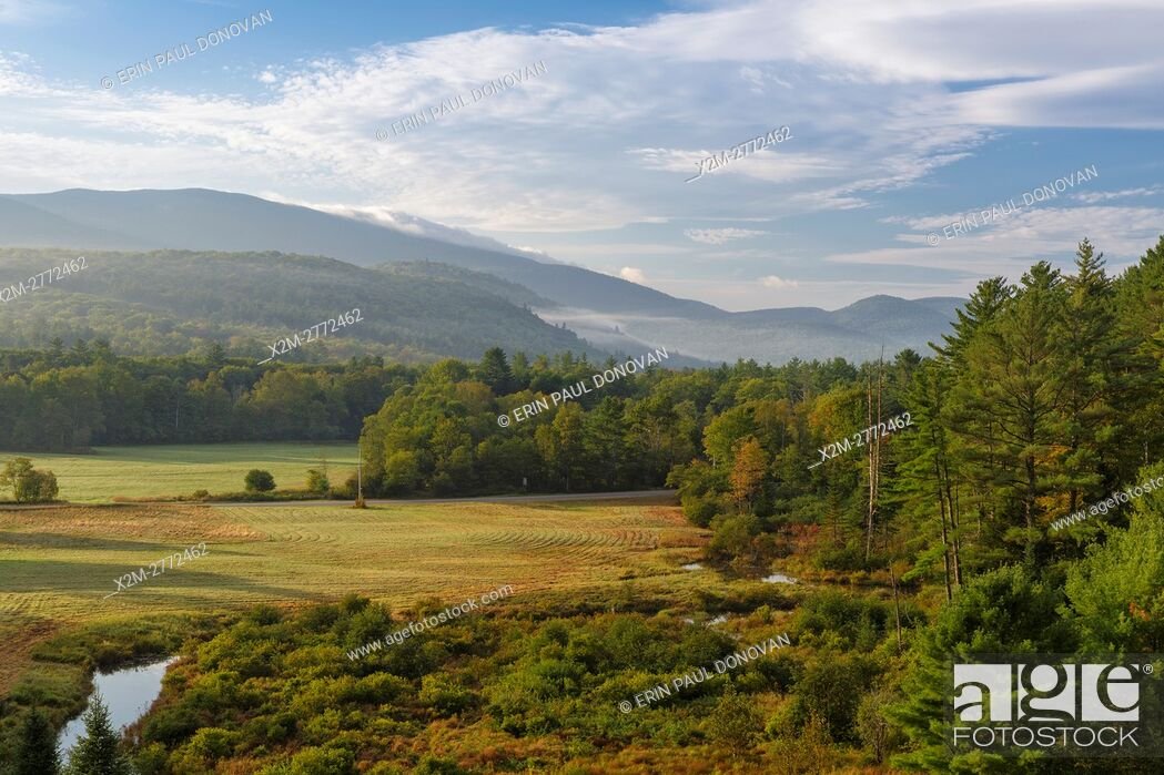 Stock Photo: View from Hildreth Dam in Warren, New Hampshire USA during the summer months.