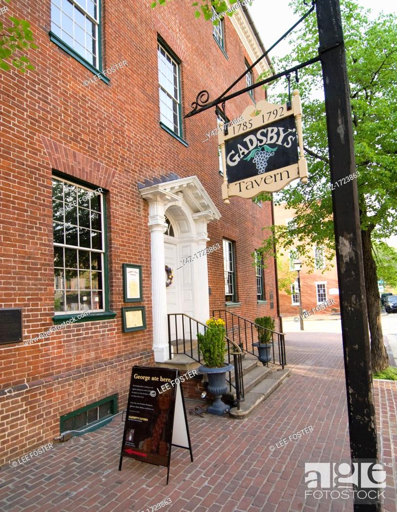 Stock Photo: Washington DC, USA, Alexandria's Old Town, historic Gadsby's Tavern and Museum.