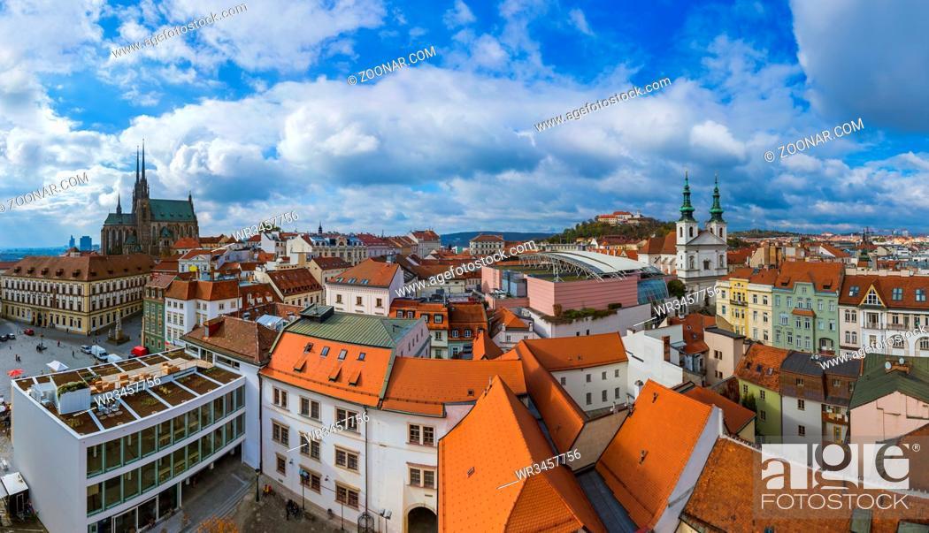 Stock Photo: Brno cityscape in Czech Republic - travel and architecture background.