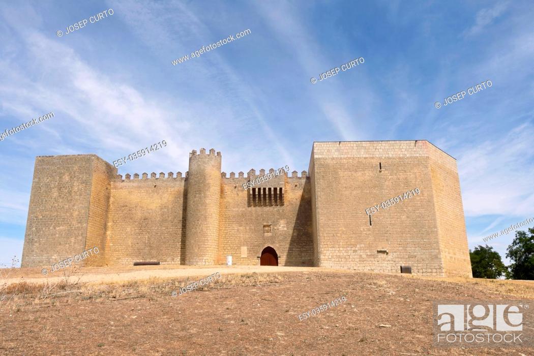 Stock Photo: Castle of Montealegre de Campos, Tierra de Campos region, Valladolid province, Castilla y Leon, Spain.