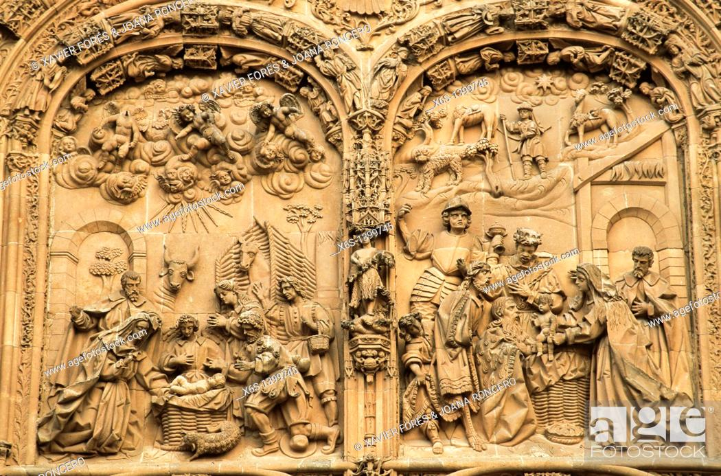 Stock Photo: New Cathedral of Salamanca, Salamanca, Spain.