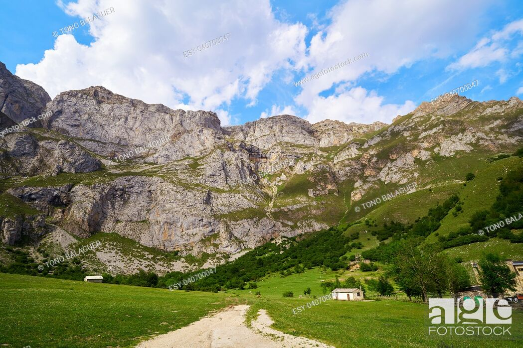 Stock Photo: Fuente De mountains in Camaleno Cantabria of Spain.