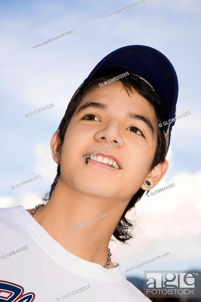 Stock Photo: Close-up of a young man smiling.
