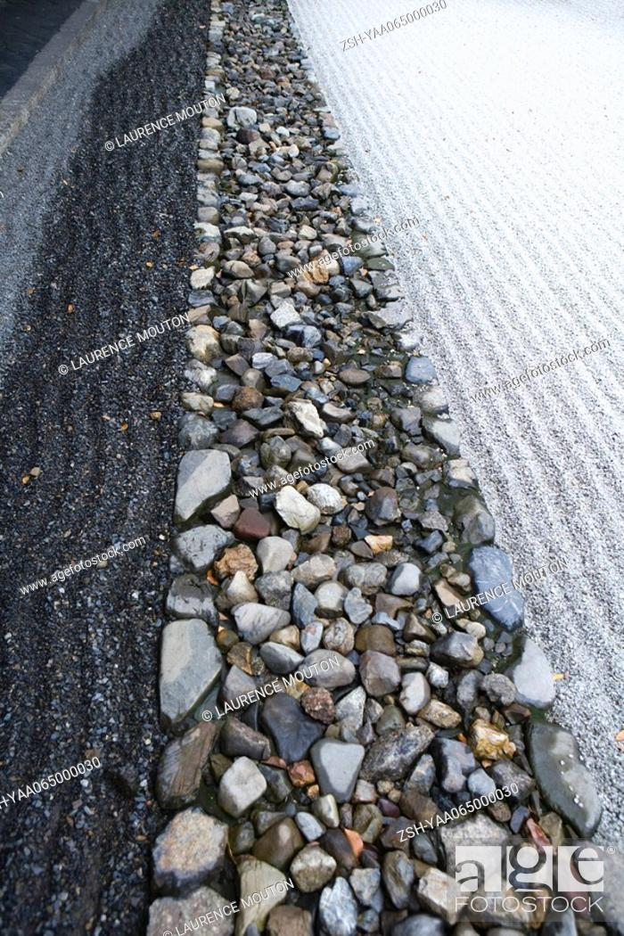 Stock Photo: Japanese rock garden, close-up.