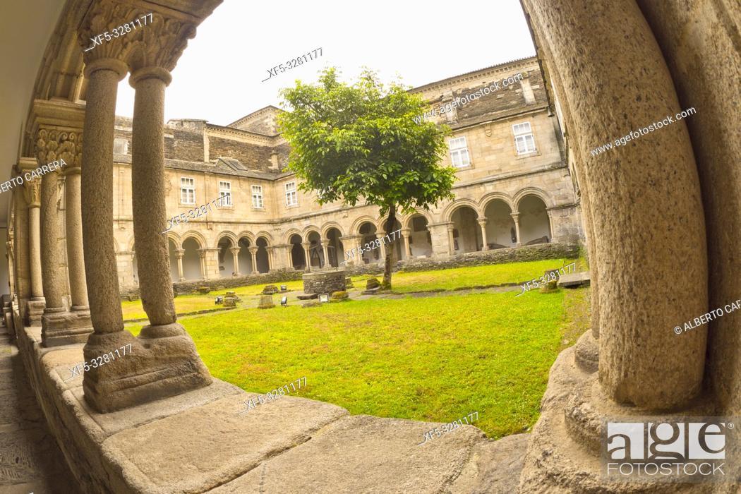 Stock Photo: Cloister of Ancient Convent of San Francisco, Lugo's Provincial Museum, Lugo City, Lugo, Galicia, Spain, Europe.