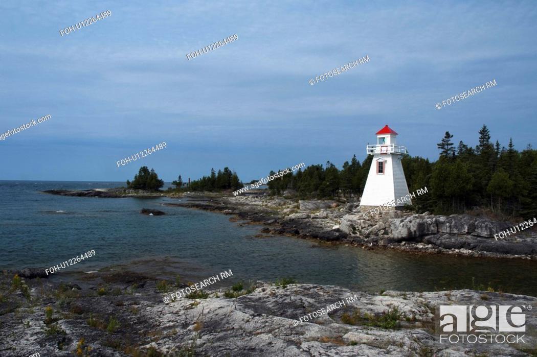 Stock Photo: lighthouse south baymouth manitoulin island.
