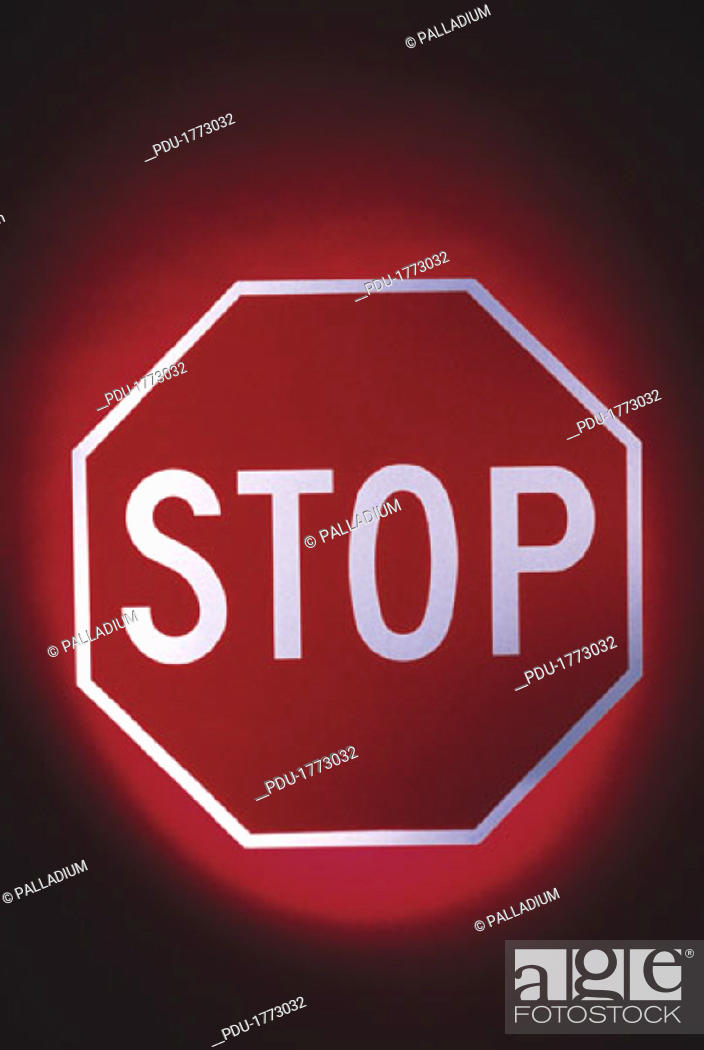 Stock Photo: Stop sign.