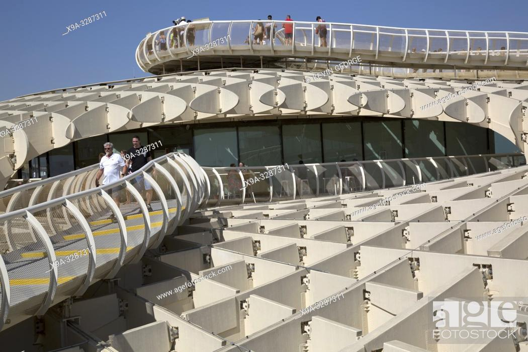 Stock Photo: Setas - Metropol Parasol; Seville; Spain;.