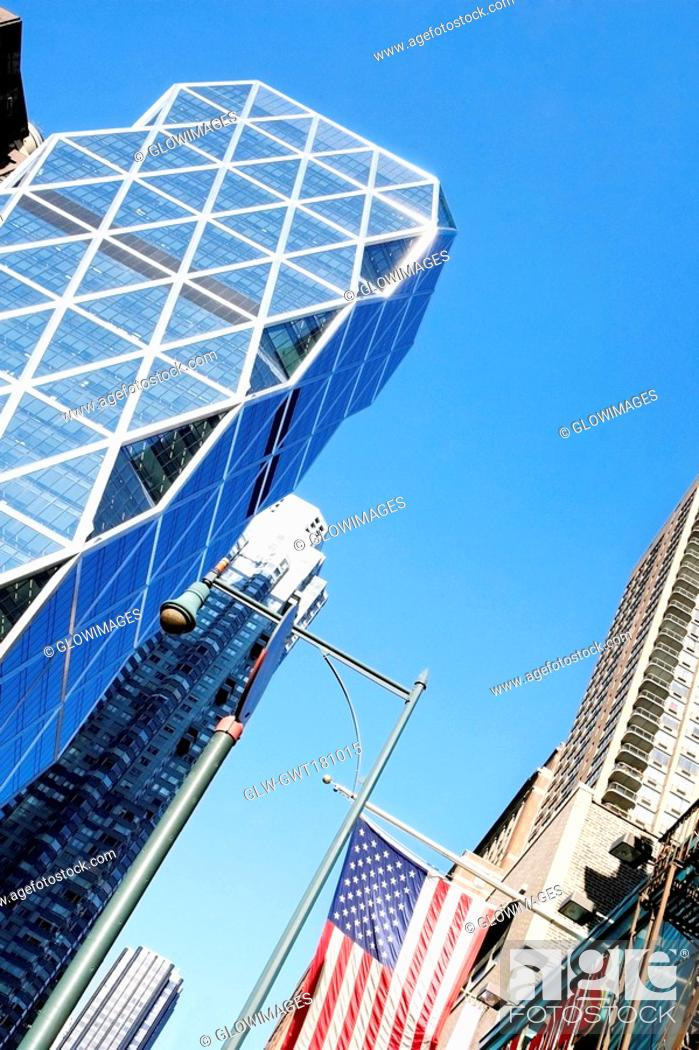 Stock Photo: Low angle view of skyscrapers, New York City, New York State, USA.