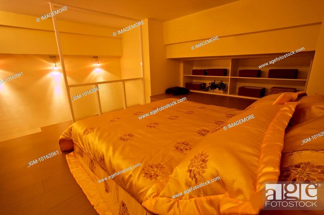 Stock Photo: Modern Interior Design - Bedroom, Domestic Room.