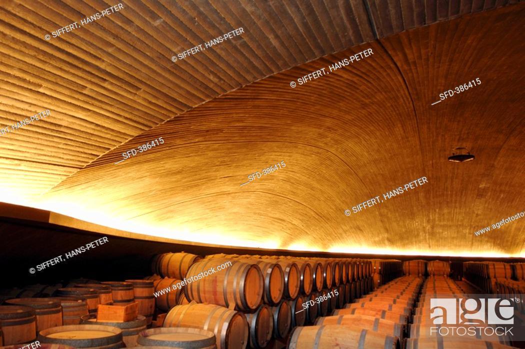 Stock Photo: Barrique cellar, Bodegas Alvaro Palacios, Gratallops, Priorat, Spain.