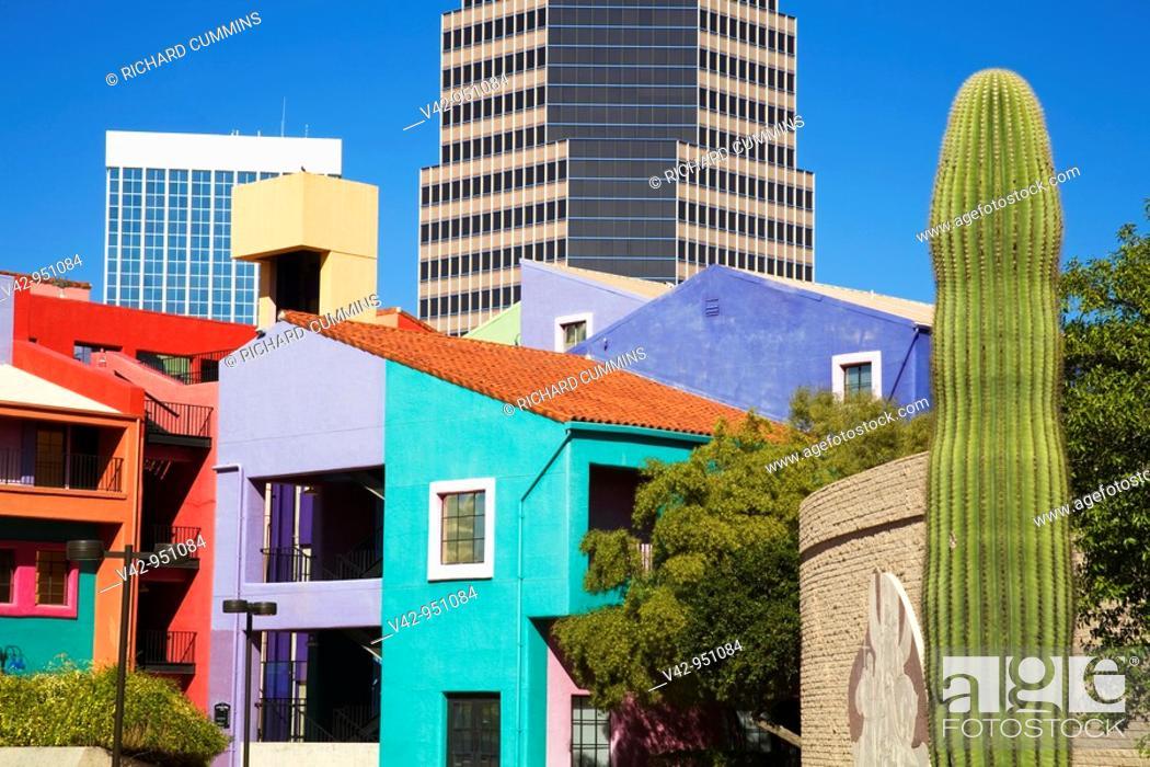 Stock Photo: La Placita Village,Tucson, Arizona,USA.