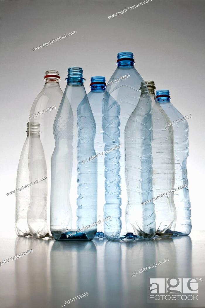 Stock Photo: Plastic bottles arrangement.