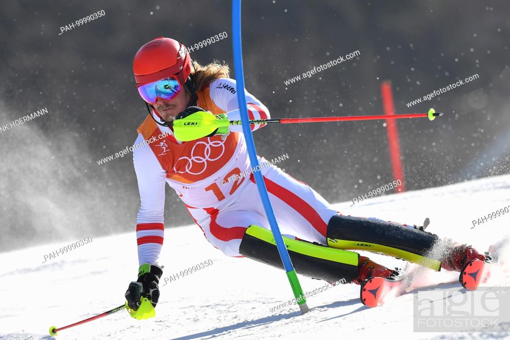 Manuel Feller Aut Aktion Alpine Skiing Mens S Slalom Stock Photo Picture And Rights Managed Image Pic Pah 99990350 Agefotostock