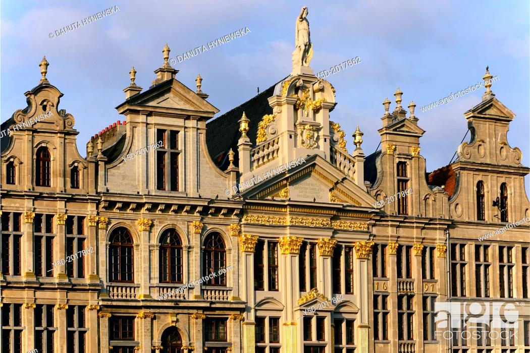 Stock Photo: architecture, Grand Place, Brussels, Belgium.