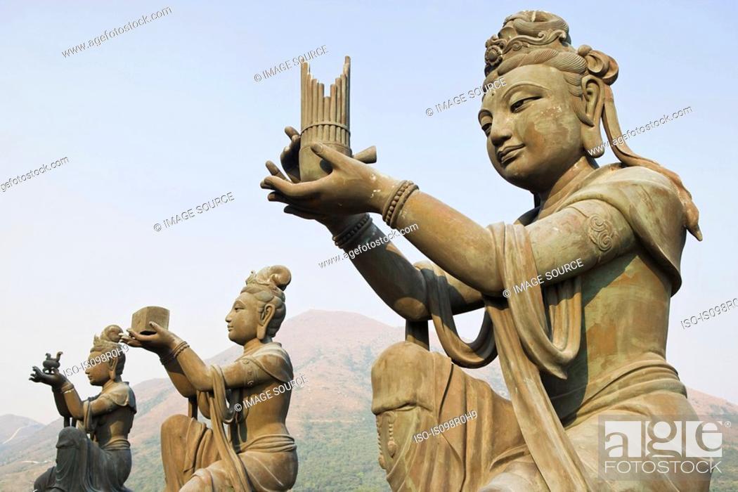 Stock Photo: Statues near tian tan buddha.
