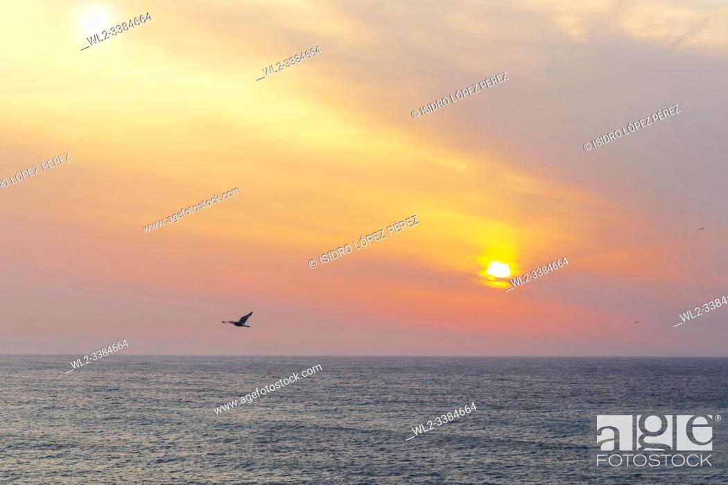 Stock Photo: sunrise on the beaches of the costa brava, Catalonia, in this particular case on the beach of the town of Platja d'Aro.
