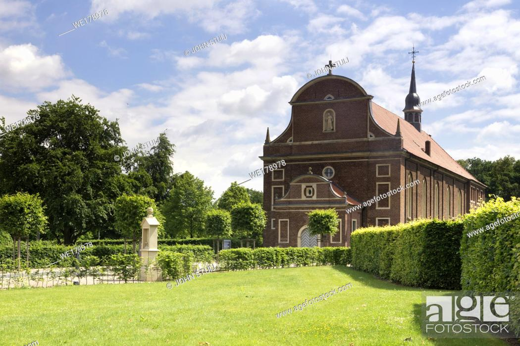Stock Photo: The baroque church in the german village Zwillbrock.
