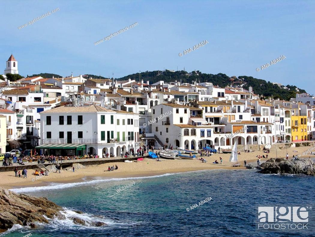 Stock Photo: Calella de Palafrugell. Costa Brava, Girona province, Catalonia, Spain.