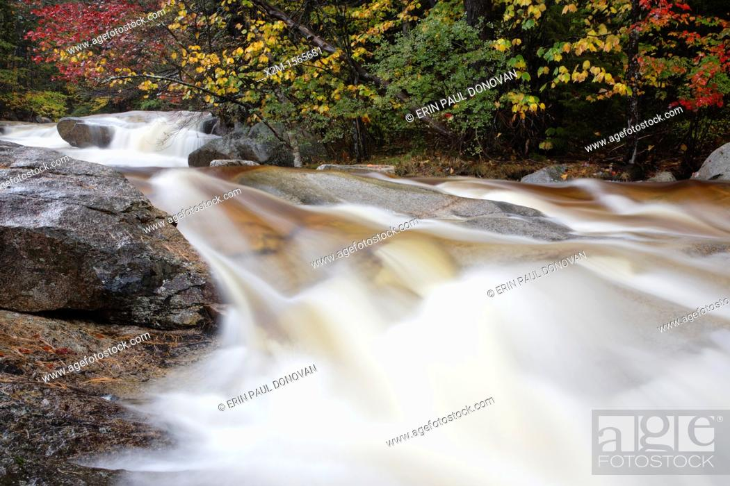 Stock Photo: Swift River in the White Mountain National Forest of New Hampshire USA during the autumn months.