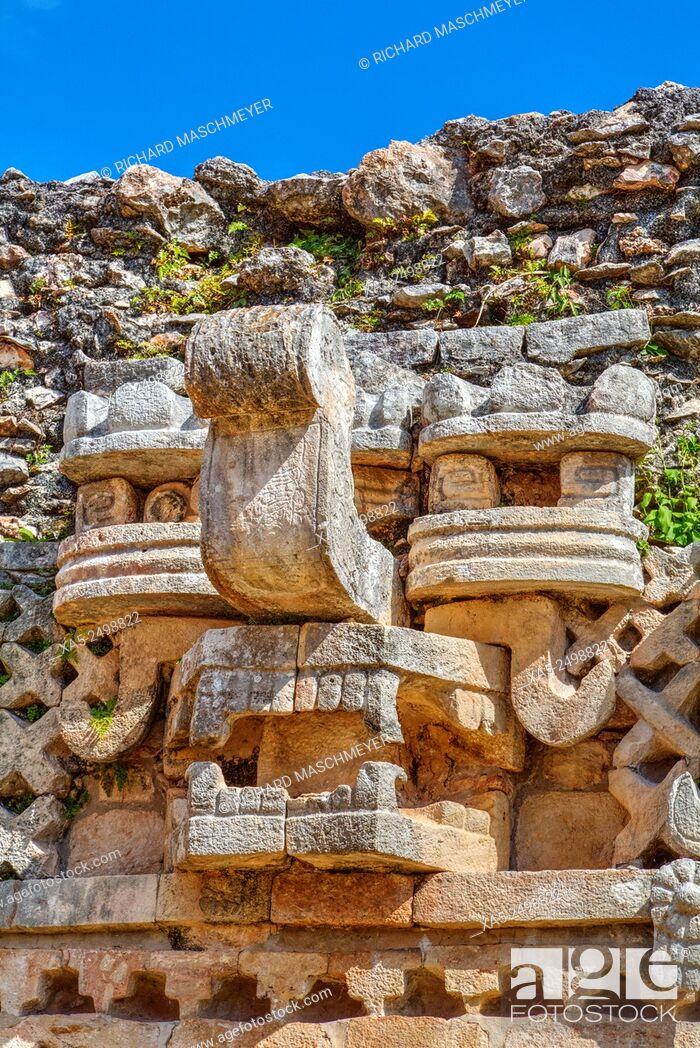 Imagen: Chac Mask (Rain God), The Palace, Labna, Mayan Ruins, Yucatan, Mexico.