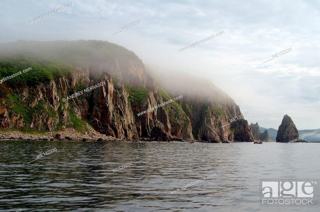 Stock Photo: sea landscape. Dalnegorsk city district, Japan sea, Far East, Primorsky Krai, Russian Federation.