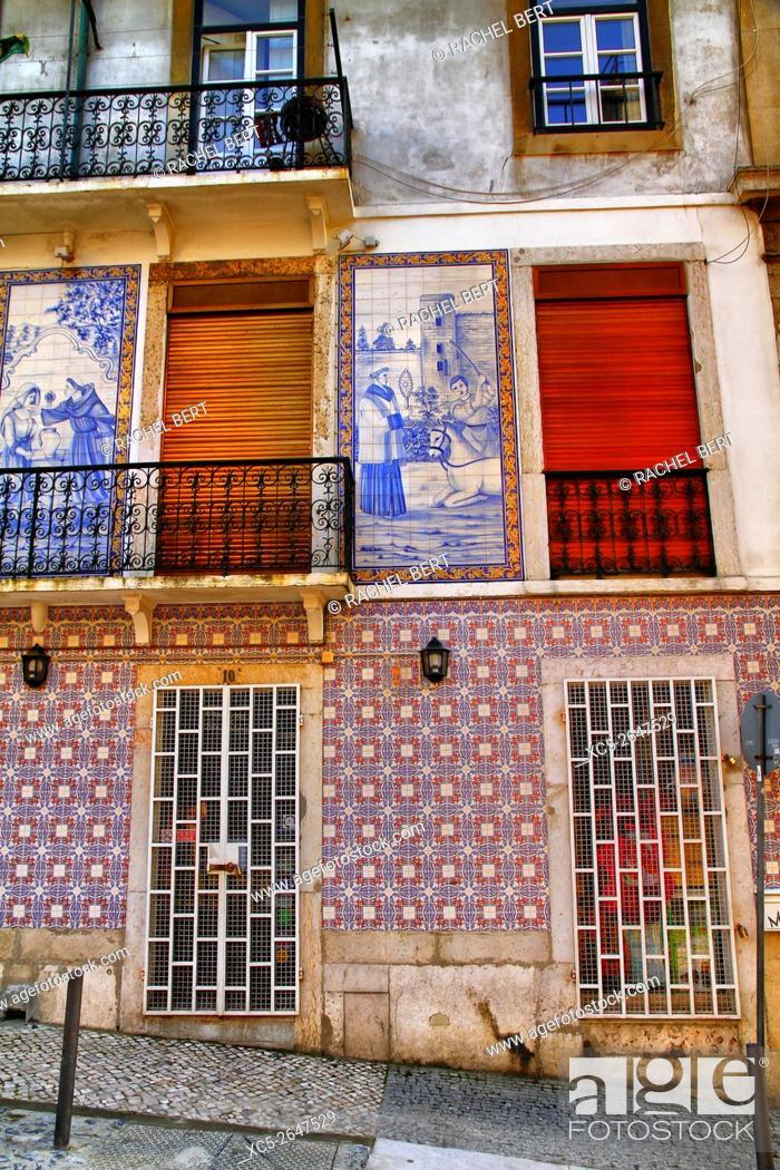 Stock Photo: Saint Jorge neighborhood, Lisbon, Portugal.