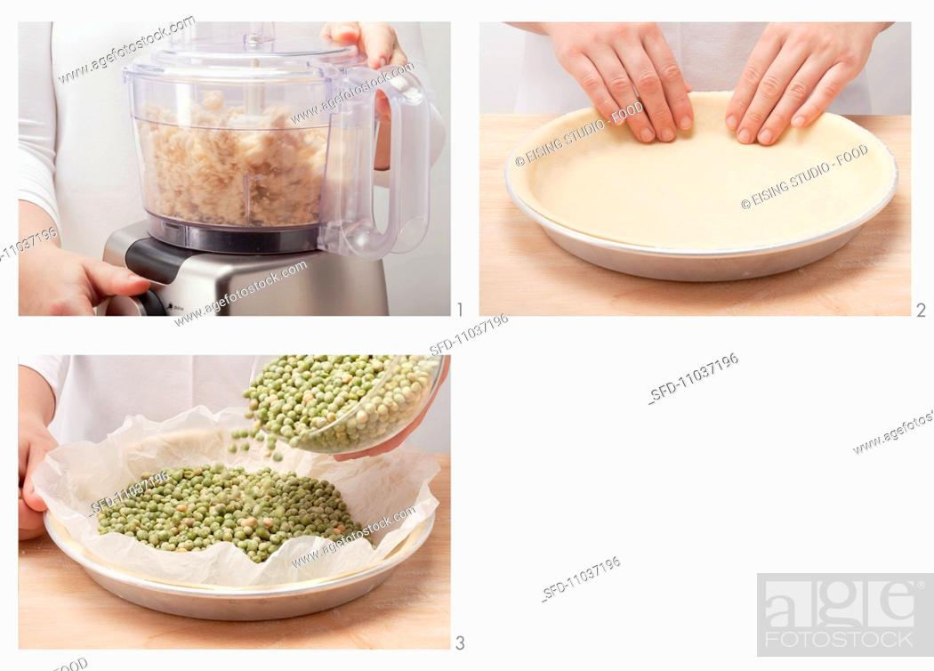 Preparing Savoury Shortcrust Pastry In A Mixer And Blind Baking The