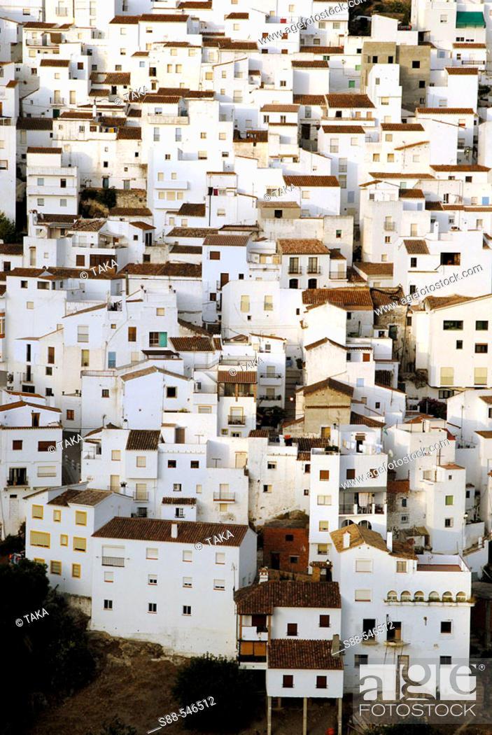 Stock Photo: Casares. Malaga province. Andalucia. Spain.