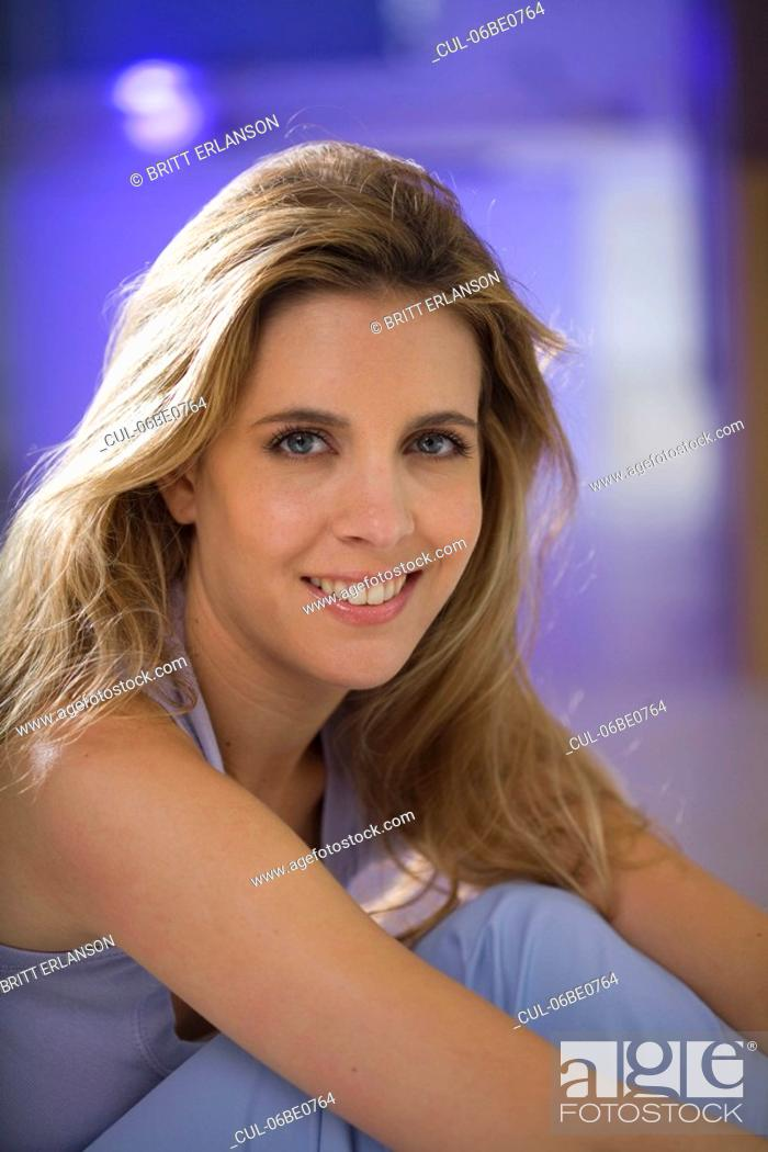 Stock Photo: Woman beauty portrait, smiling.