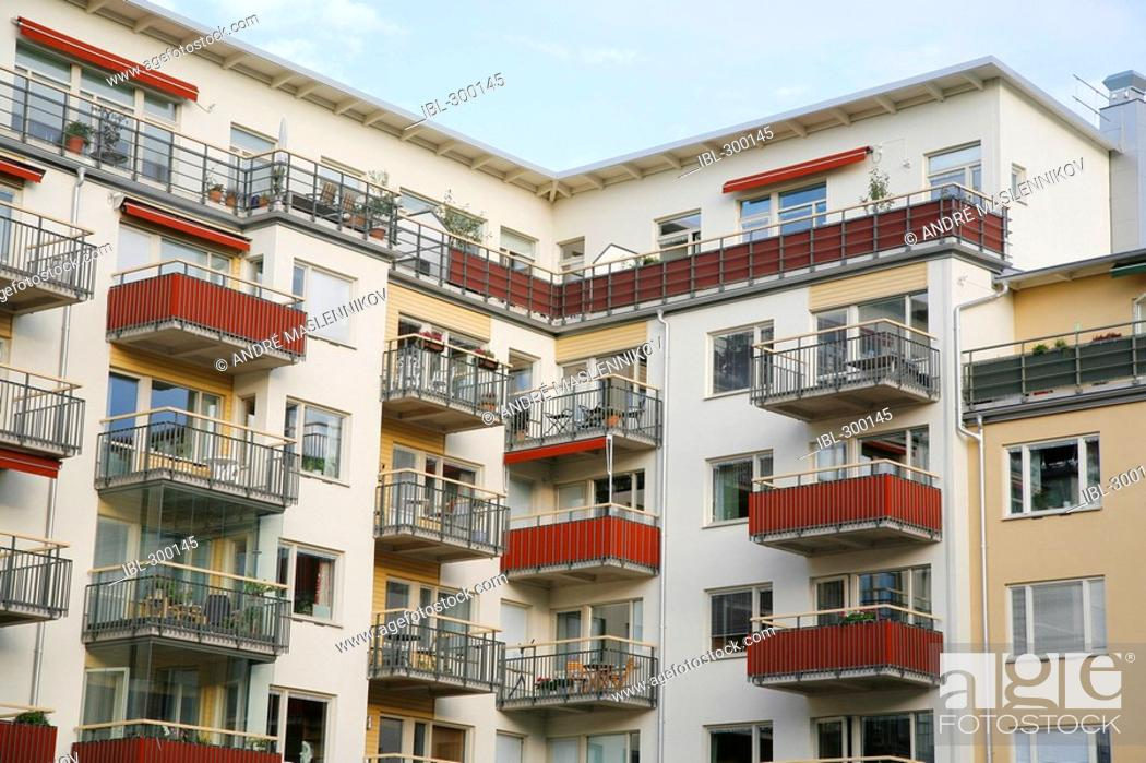 Stock Photo: Block of flats.