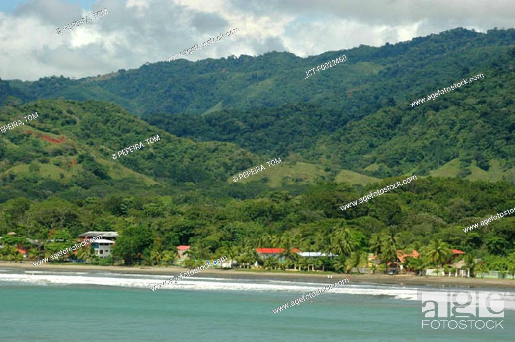 Stock Photo: Costa Rica, Pacific coast, beach and forest.