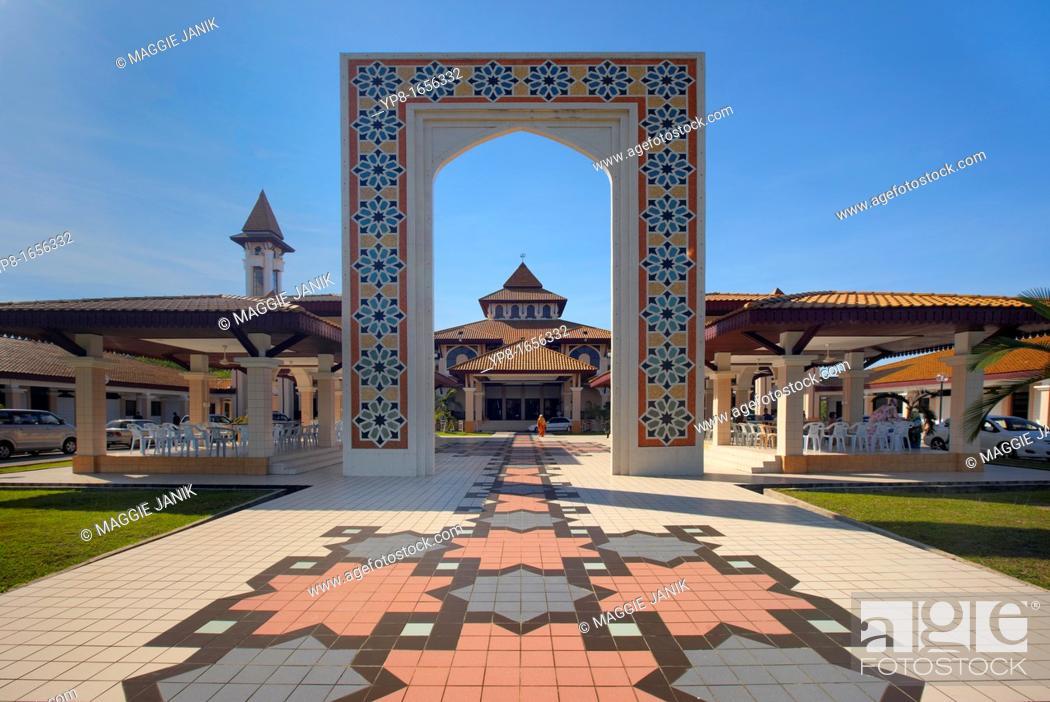 Photo de stock: Universiti Brunei Darussalam Mosque, Gadong, Brunei Darussalam, Asia.
