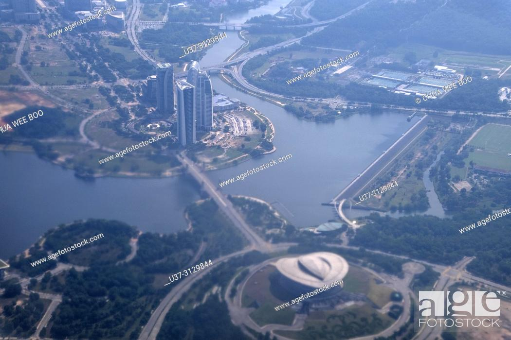 Stock Photo: Kuala Lumpur, Malaysia, view from an airplane.