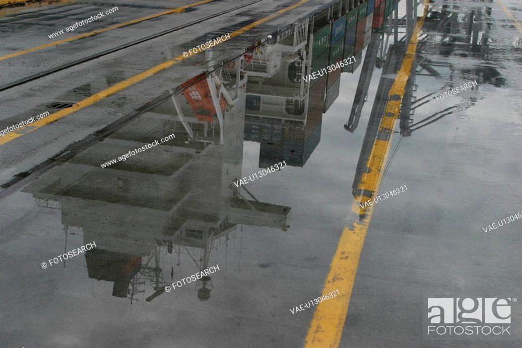 Stock Photo: deck, bridge, tower, railing, detail, close-up.