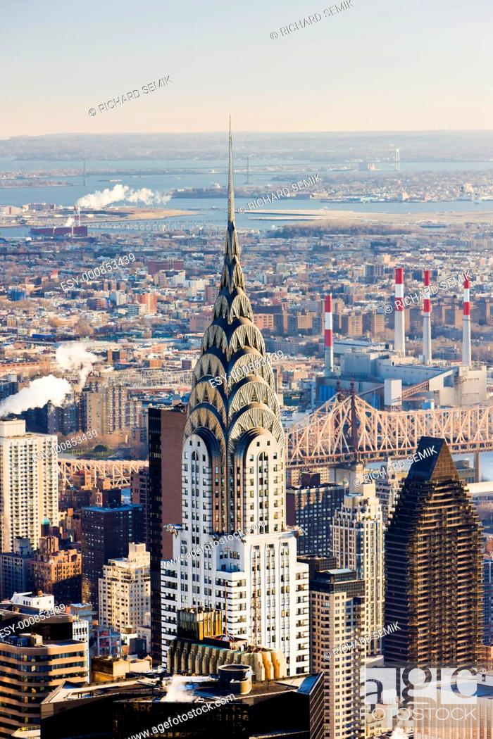Stock Photo: Chrysler building, Manhattan, New York City, USA.