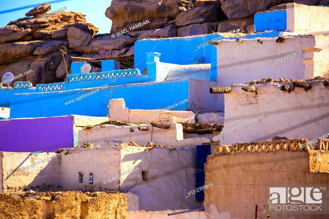 Stock Photo: Old village in Aswan, Egypt called Shidida.