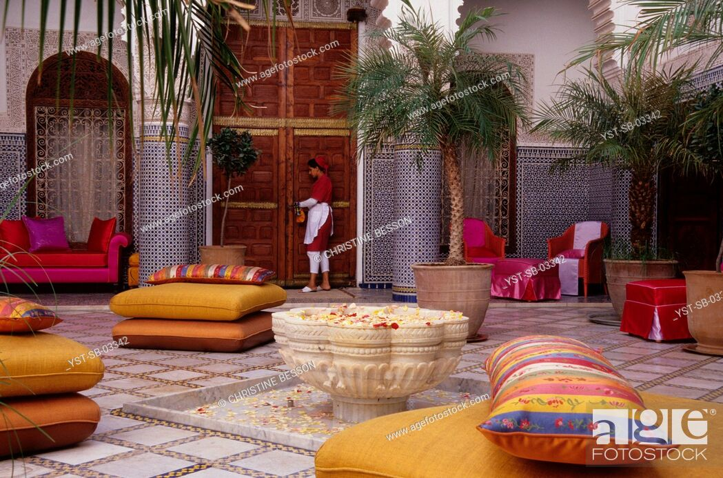 Stock Photo: Guest house, hotel, house, Riad Enija, Red City, Marrakech, Morocco, Africa.