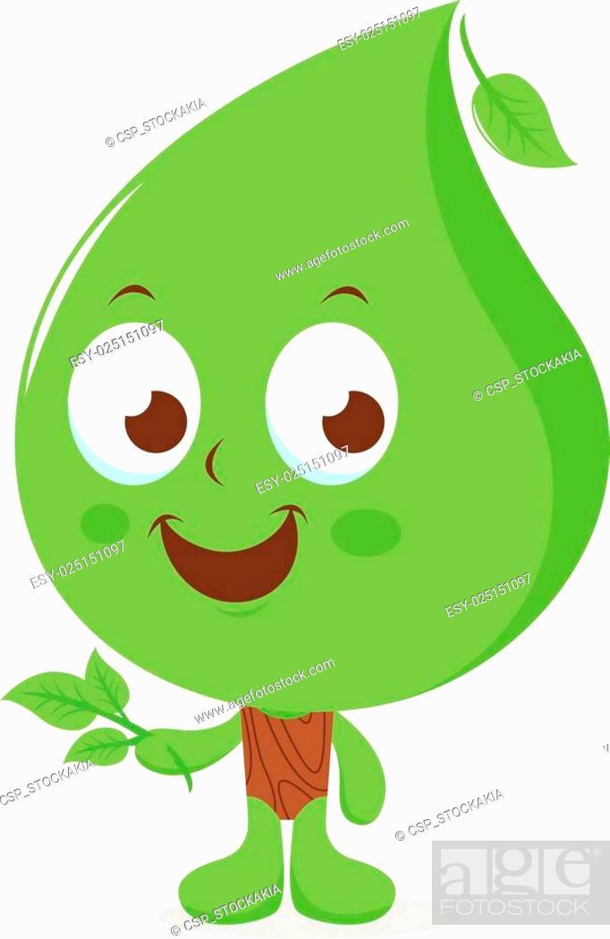 Stock Vector: leaf cartoon tree.